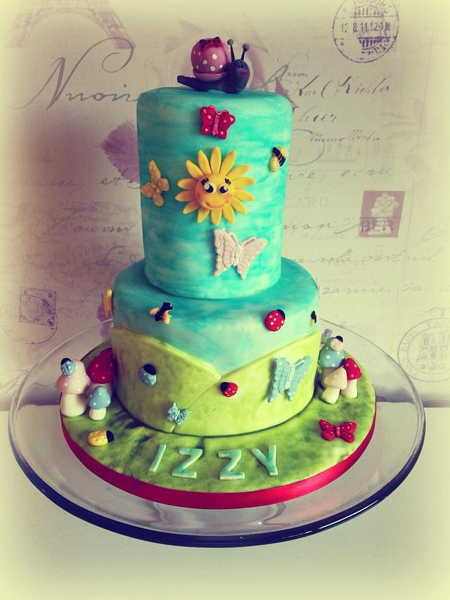 First birthday cake x