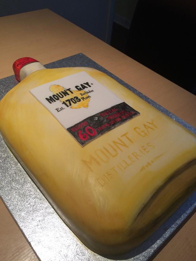 A 'Mount Gay Rum' cake