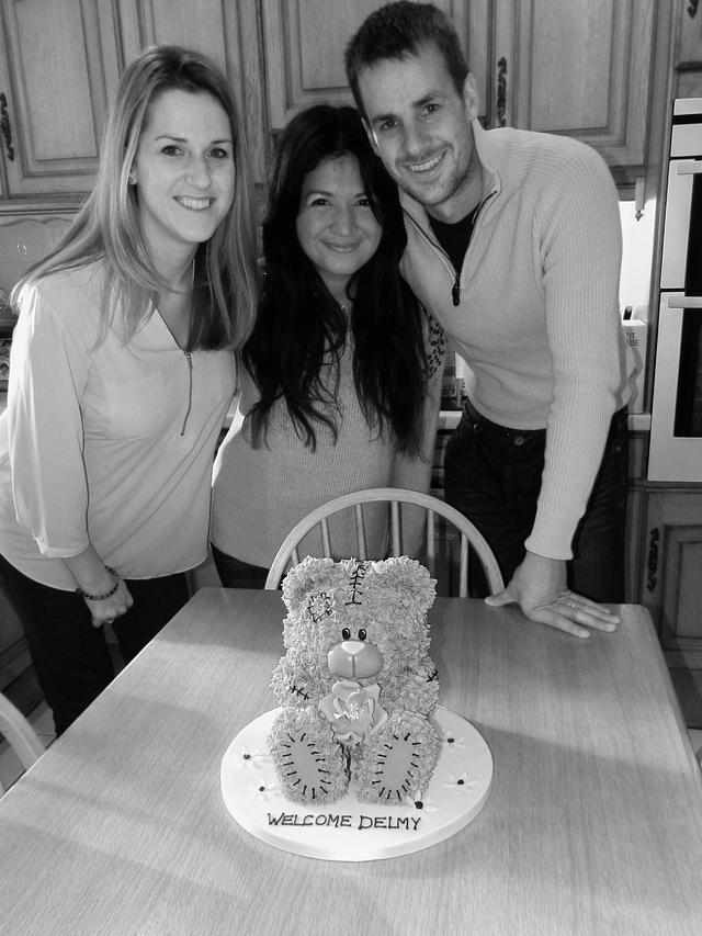 Blushing Teddy Cake
