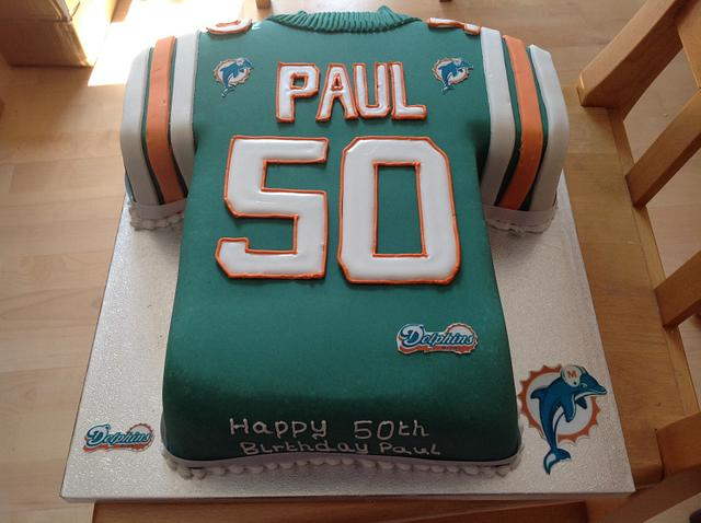 Peachy Miami Dolphins Birthday Cake Cake By Iced Images Cakes Cakesdecor Funny Birthday Cards Online Alyptdamsfinfo