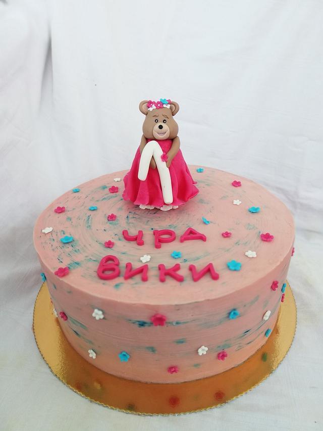 Торта без фондан