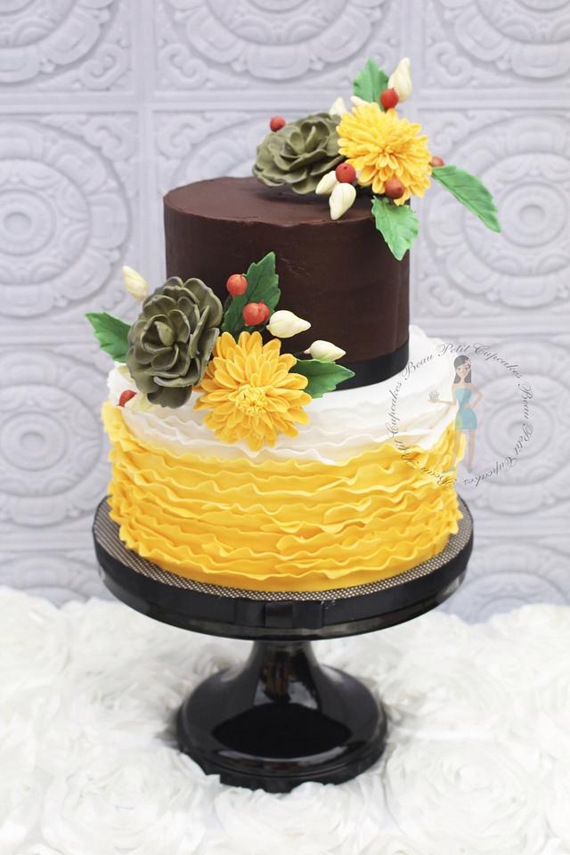 Stupendous Rustic Country Side Birthday Cake Cake By Beau Petit Cakesdecor Funny Birthday Cards Online Elaedamsfinfo