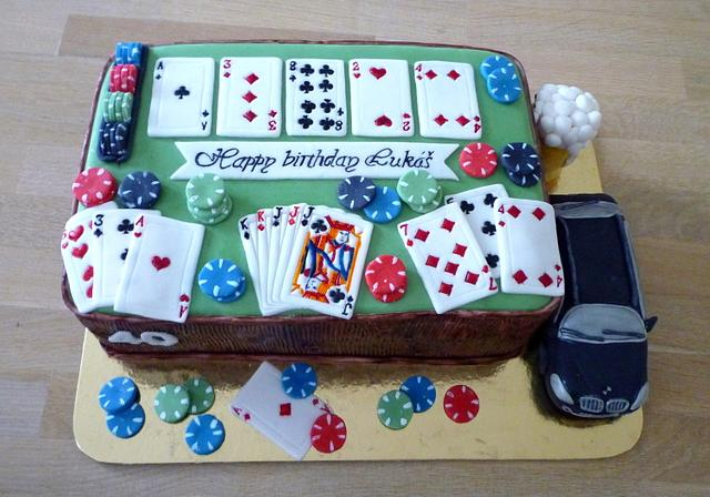 Super Poker Birthday Cake Cake By Janka Cakesdecor Funny Birthday Cards Online Unhofree Goldxyz