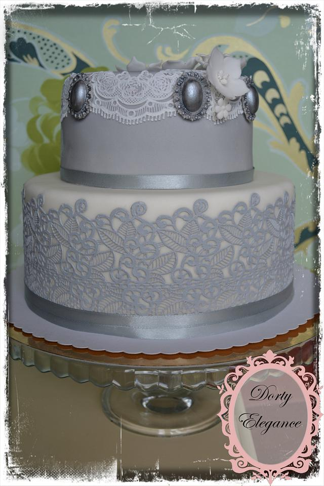 Cake in shades of gray