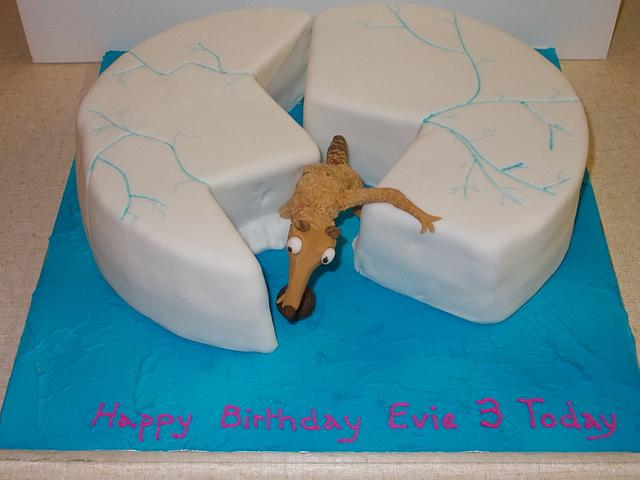 ice age scrat birthday cake  cakedavid mason  cakesdecor