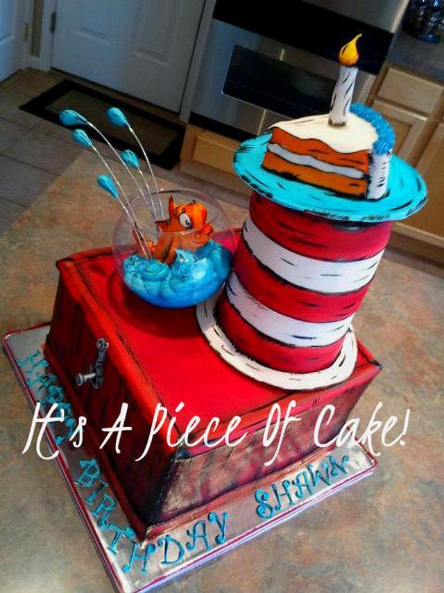 Dr. Seuss Cake I made for my Nephew
