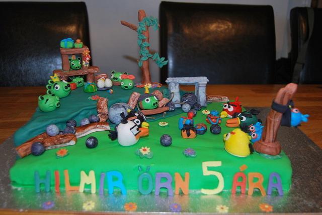 Terrific Angry Birds Birthday Cake Cake By Eva S Sigurdardottir Cakesdecor Funny Birthday Cards Online Overcheapnameinfo