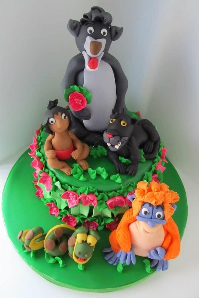 Jungle Book 3rd Birthday Cake
