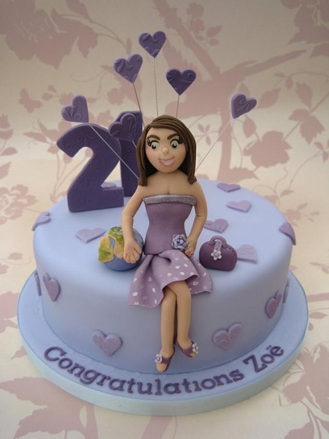 Purple heart 21st Cake