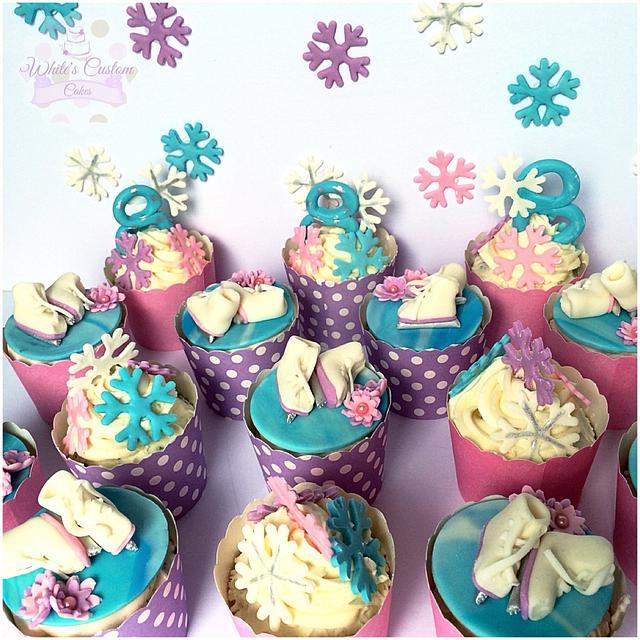 Figure Skating Cupcakes