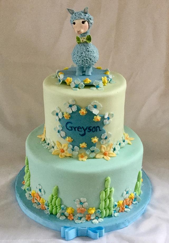 Greyson's Christening Cake