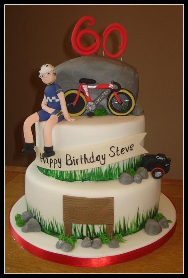 Astounding 3 Tier 60Th Birthday Cake Cake By That Cake Lady Cakesdecor Funny Birthday Cards Online Kookostrdamsfinfo