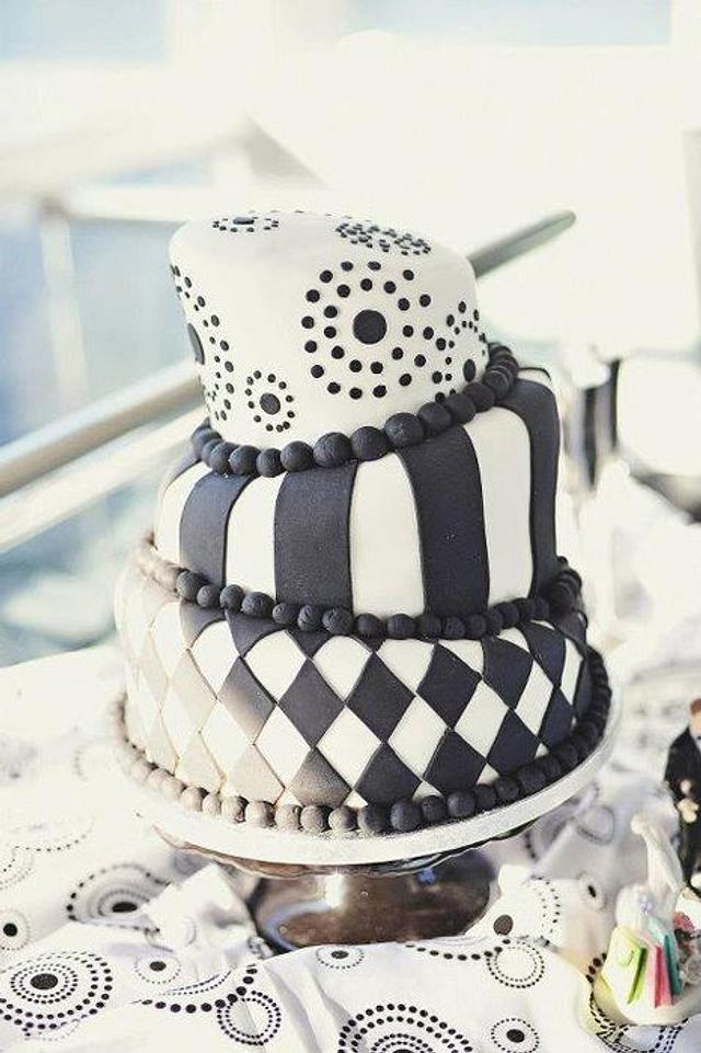 Topsy Turvy Anniversary cake