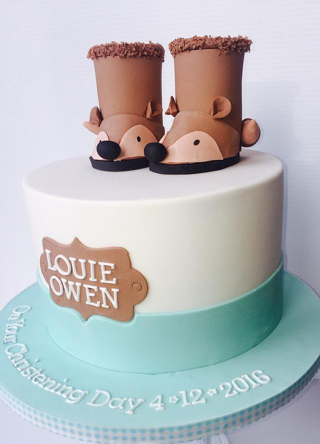 Bootie  christening cake