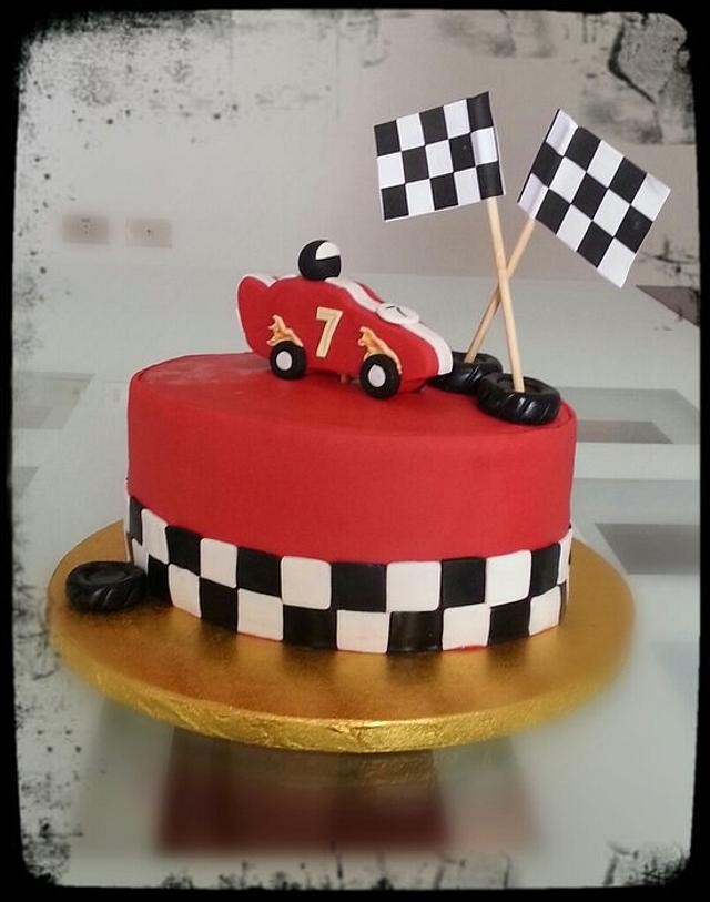 Fine Racing Car Birthday Cake Cake By Deema Cakesdecor Funny Birthday Cards Online Elaedamsfinfo