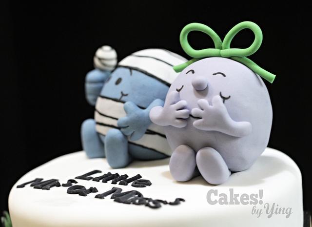 Mr Men / Little Miss gender reveal cake
