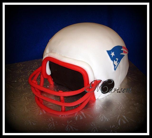 Patriot's Super Bowl Helmet Cake