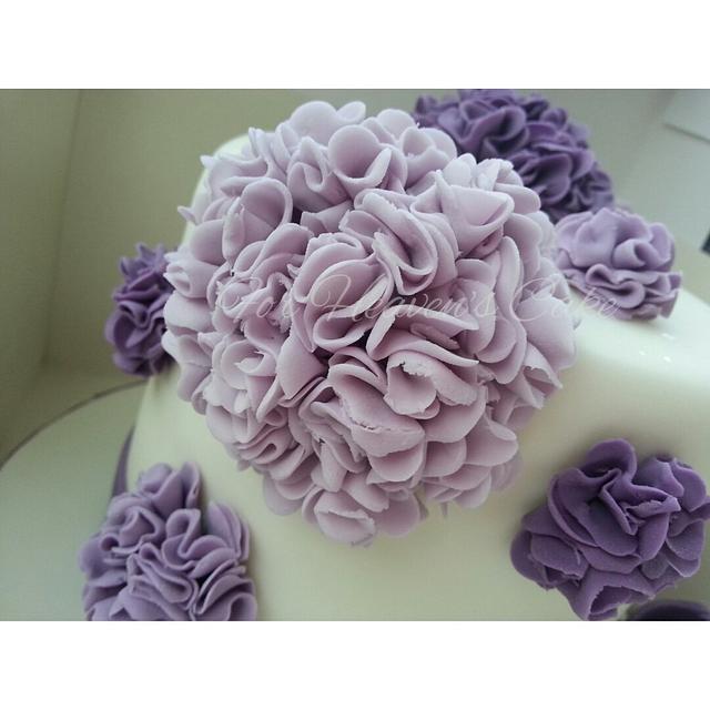 Purple Pom Poms