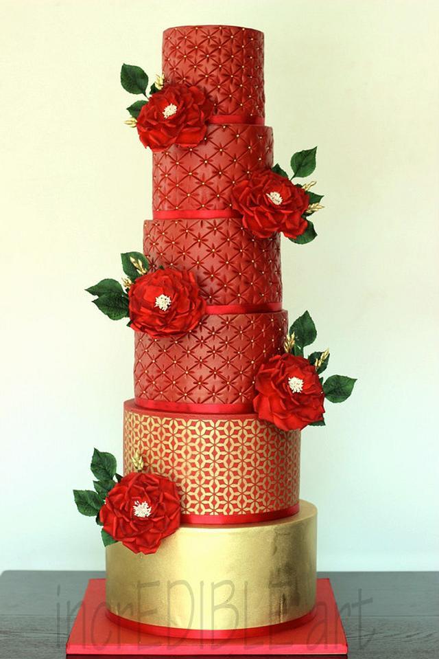 """Magnificent""- 6 Tier Wedding Cake"