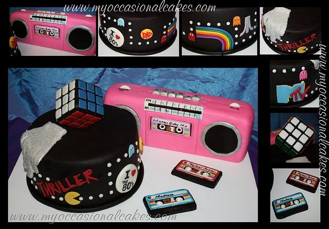 80's themed cake