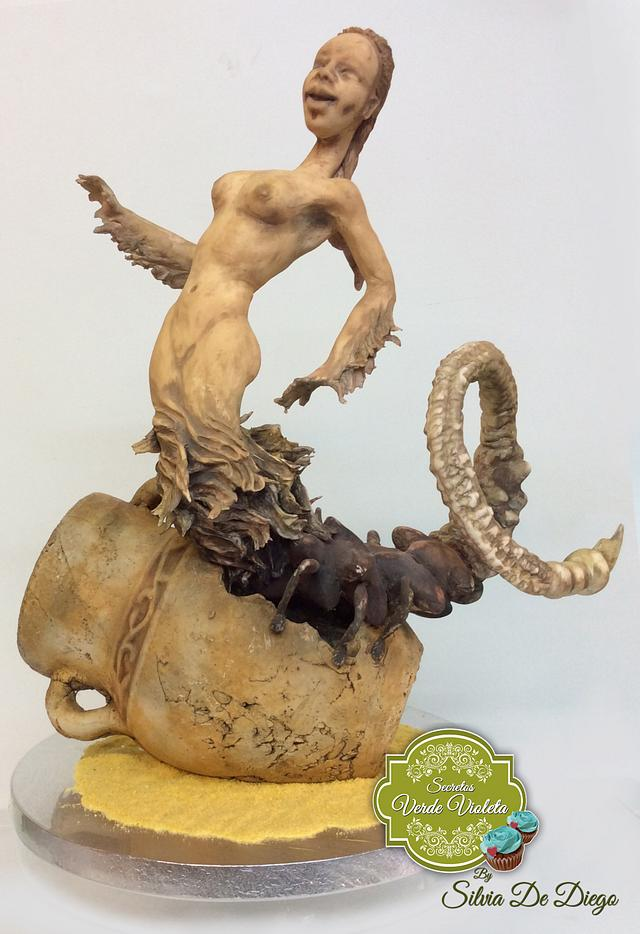 Scorpio terracota -collaboration zodiac cake challenger