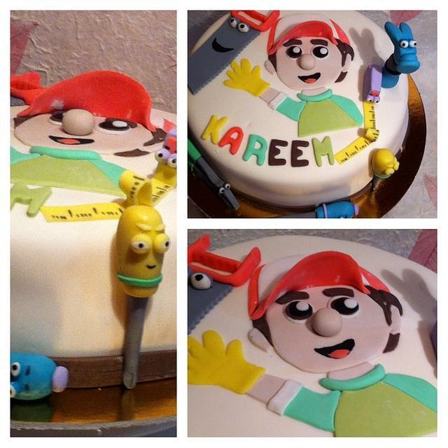 Terrific Handy Manny Cake Cake By Mercioccasion Cakesdecor Birthday Cards Printable Inklcafe Filternl