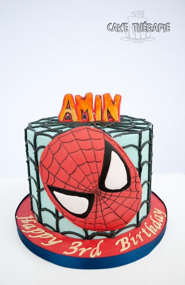 Spiderman cake. An all buttercream beauty