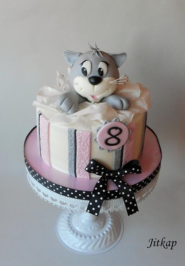 Magnificent Cat Birthdays Cake Cake By Jitkap Cakesdecor Funny Birthday Cards Online Inifofree Goldxyz