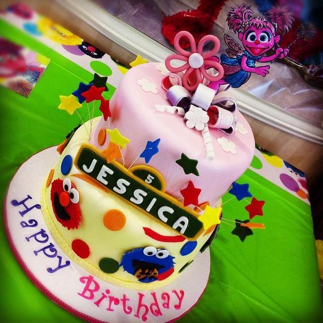 Sesame Street Abby Cadabby Cake By Deliciouscreations