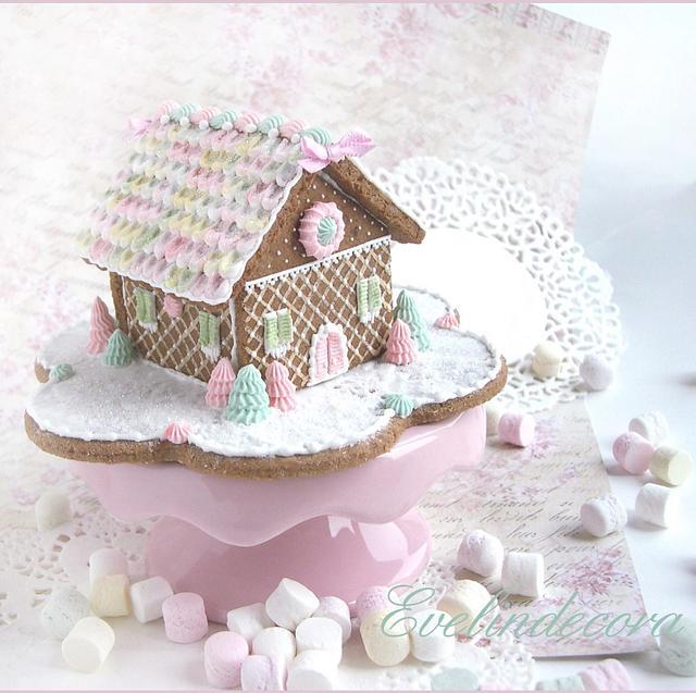 'Home sweet home' gingerbread house
