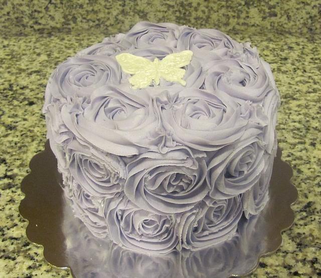 Lavendar Rose Cake