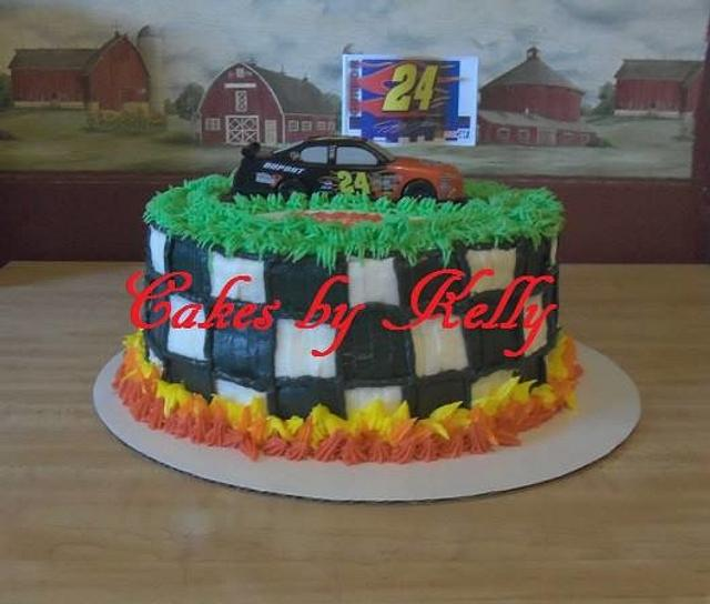 Cool Nascar Cake Cake By Kelly Neff Cakes By Kelly Cakesdecor Funny Birthday Cards Online Elaedamsfinfo