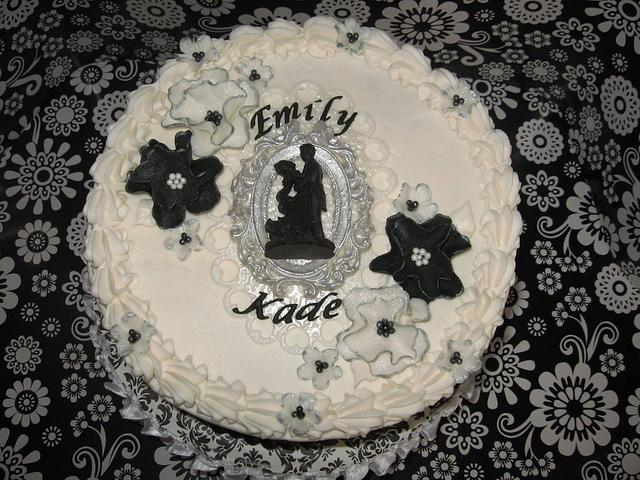 Black & White Damask Bridal Shower