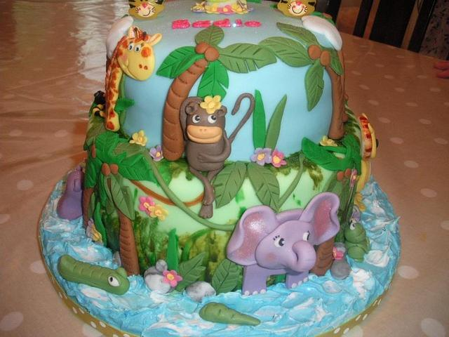 Jungle Friends Cake