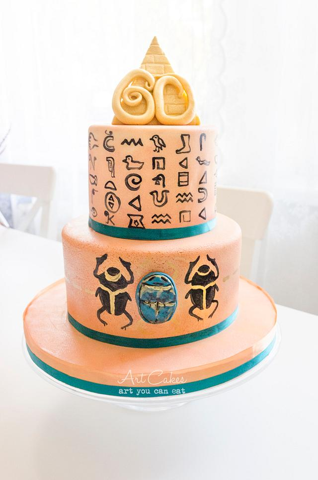 Brilliant Egyptian B Day Cake Cake By Art Bakin Cakesdecor Funny Birthday Cards Online Necthendildamsfinfo