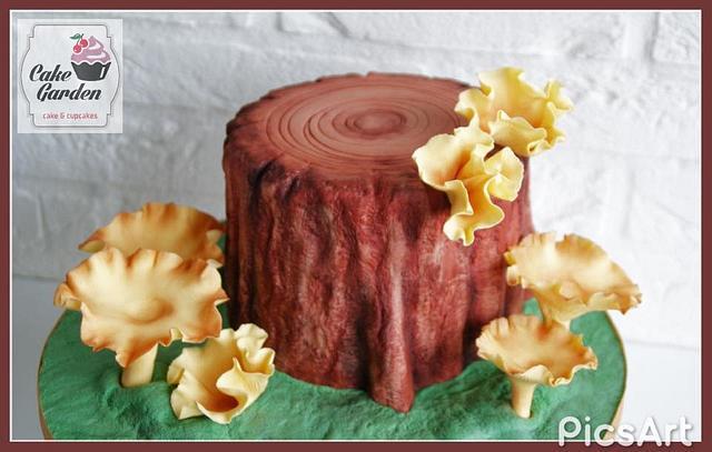 chanterelles cake