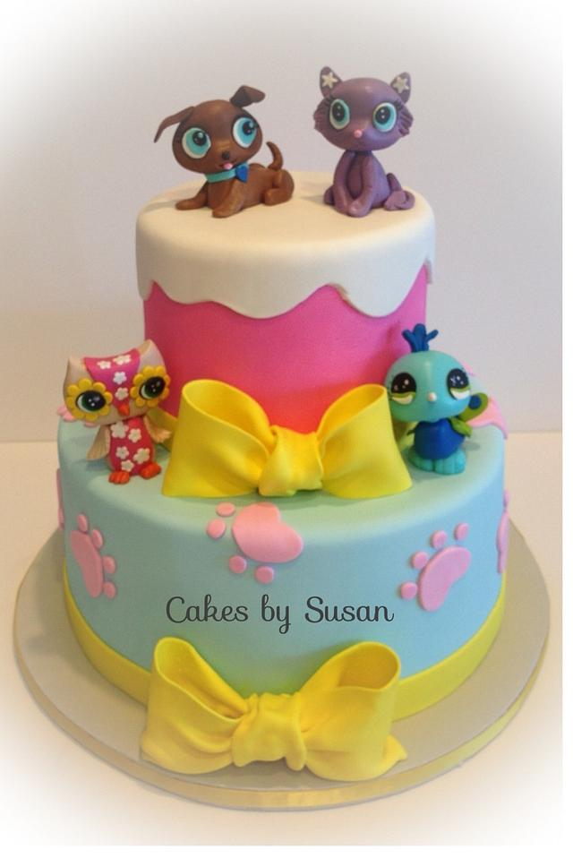 Magnificent Littlest Pet Shop Cake Cake By Skmaestas Cakesdecor Funny Birthday Cards Online Alyptdamsfinfo