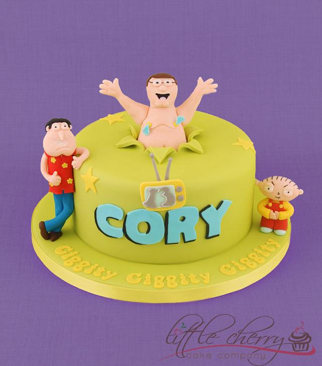 Pleasing Family Guy Cake Cake By Little Cherry Cakesdecor Funny Birthday Cards Online Elaedamsfinfo