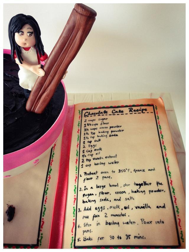Recipe Book Cake