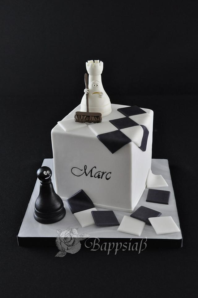 Incredible Chess Cake For Marcs Birthday Cake By Bappsiass Cakesdecor Funny Birthday Cards Online Overcheapnameinfo
