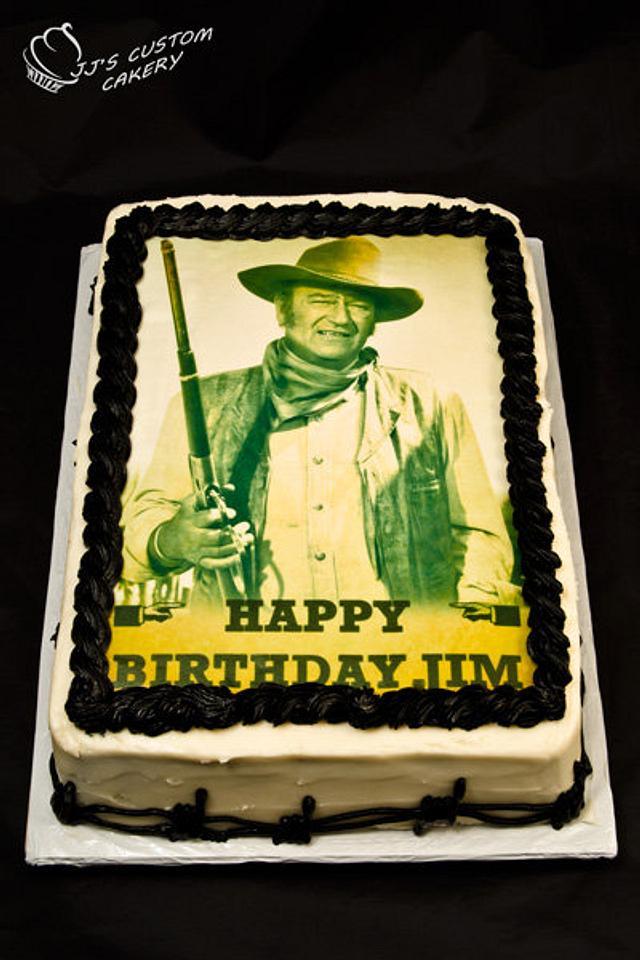 Astonishing John Wayne Birthday Cake Cake By Jenn Cakesdecor Personalised Birthday Cards Beptaeletsinfo