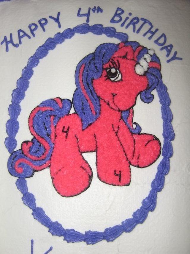 My lil pony b-day cake