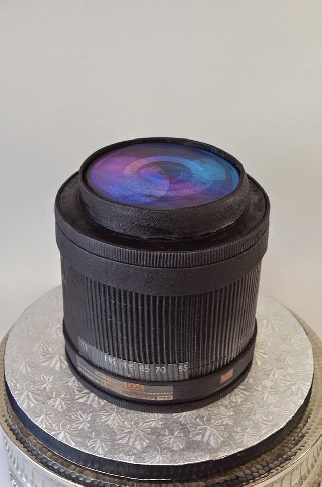 Camera Lens Groom's Cake