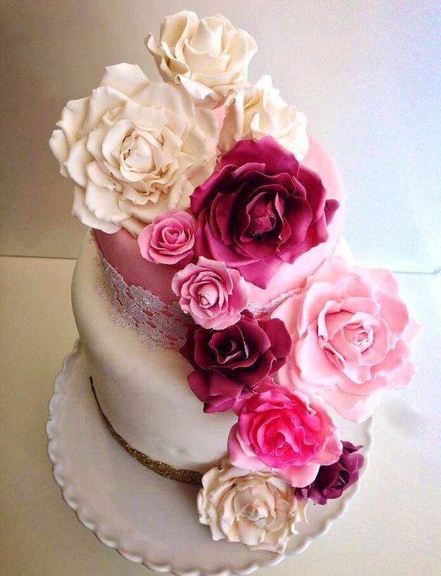 Swell Gorgeous Birthday Cake Cake By Shafaqs Bake House Cakesdecor Funny Birthday Cards Online Fluifree Goldxyz