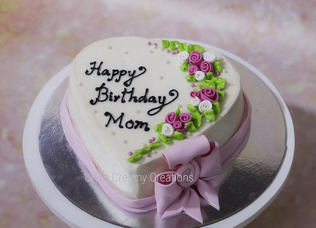 Awesome Moms Birthday Cake By Urvi Zaveri Cakesdecor Funny Birthday Cards Online Alyptdamsfinfo