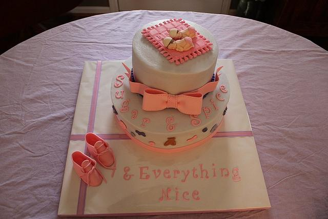 Sugar & Spice Baby Shower Cake