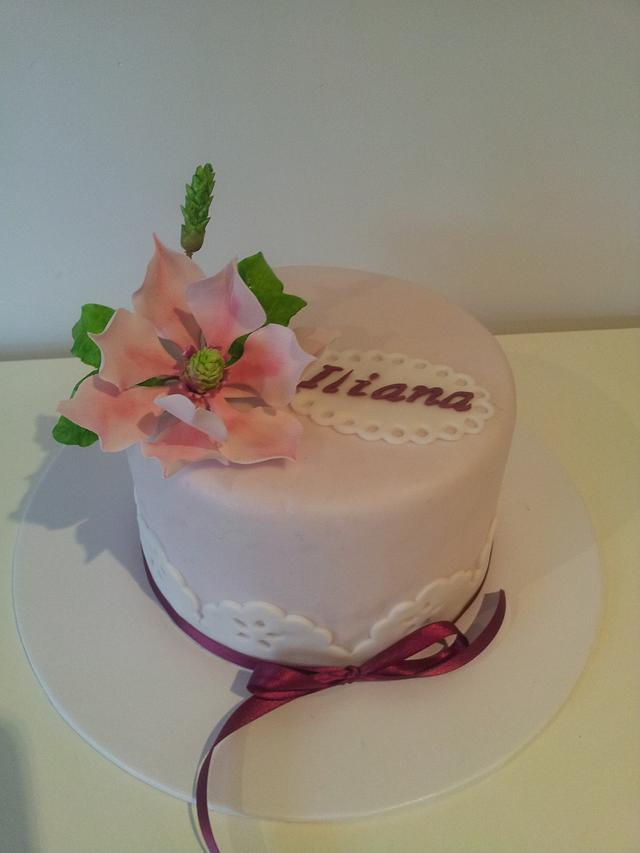 A magnolia cake
