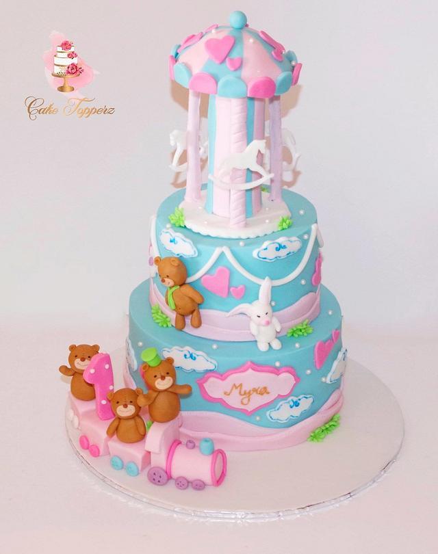 Enjoyable 1St Birthday Cake For A Princess Cake By Cake Topperz Cakesdecor Birthday Cards Printable Benkemecafe Filternl