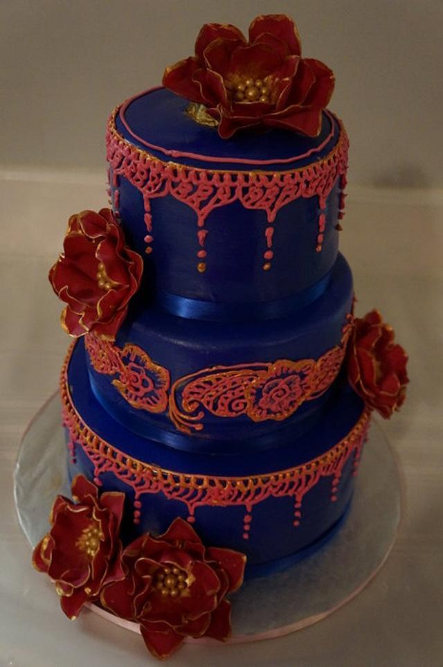 Royal blue Henna Cake