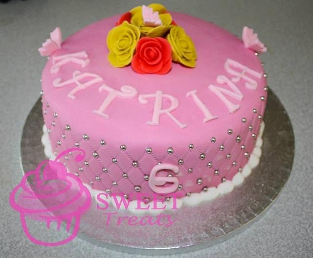 Sensational My Daughters 6Th Birthday Cake Cake By Tania V Cakesdecor Personalised Birthday Cards Veneteletsinfo